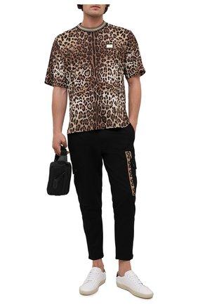 Мужская хлопковая футболка DOLCE & GABBANA леопардового цвета, арт. G8MP5T/HS7EE | Фото 2