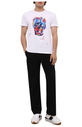 Мужская хлопковая футболка ALEXANDER MCQUEEN белого цвета, арт. 666612/QRZ91 | Фото 2