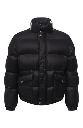 Мужская утепленная куртка ALEXANDER MCQUEEN черного цвета, арт. 659318/QRR55 | Фото 1 (Длина (верхняя одежда): Короткие; Материал внешний: Синтетический материал; Кросс-КТ: Куртка; Рукава: Длинные; Мужское Кросс-КТ: пуховик-короткий; Материал подклада: Синтетический материал)