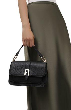 Женская сумка sofia small FURLA черного цвета, арт. WB00094/HSF000   Фото 2