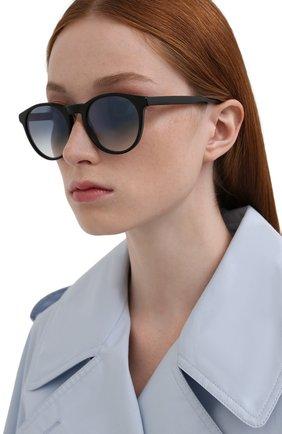 Женские солнцезащитные очки LORO PIANA черного цвета, арт. FAL0261   Фото 2 (Тип очков: С/з; Очки форма: Круглые)