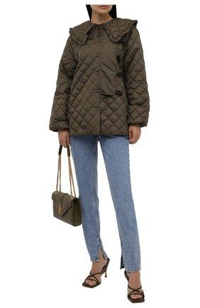 Женские джинсы GANNI голубого цвета, арт. F5721 | Фото 2