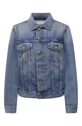 Женская джинсовая куртка GANNI голубого цвета, арт. F5794 | Фото 1
