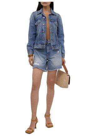 Женская джинсовая куртка GANNI голубого цвета, арт. F5794 | Фото 2