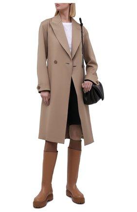 Женские кожаные сапоги stivale ranger LE SILLA светло-коричневого цвета, арт. 6492T020M1PPCHI   Фото 2