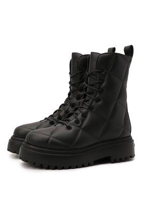 Женские комбинированные ботинки ranger LE SILLA черного цвета, арт. 6410T020M1PPFAK   Фото 1