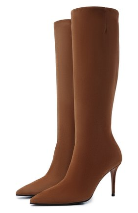 Женские замшевые сапоги stivale eva 90 LE SILLA светло-коричневого цвета, арт. 2142R080R1PPP0W   Фото 1