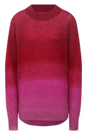 Женский свитер ISABEL MARANT ETOILE фуксия цвета, арт. PU1642-21A049E/DAWN | Фото 1 (Материал внешний: Шерсть; Рукава: Длинные; Стили: Кэжуэл; Длина (для топов): Удлиненные; Женское Кросс-КТ: Свитер-одежда)