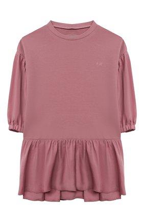 Детское хлопковое платье IL GUFO темно-розового цвета, арт. A21VL450M0100/5A-8A | Фото 1