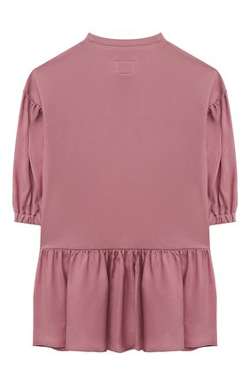 Детское хлопковое платье IL GUFO темно-розового цвета, арт. A21VL450M0100/5A-8A | Фото 2