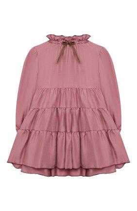 Детское платье IL GUFO темно-розового цвета, арт. A21VL442R0001/5A-8A | Фото 1