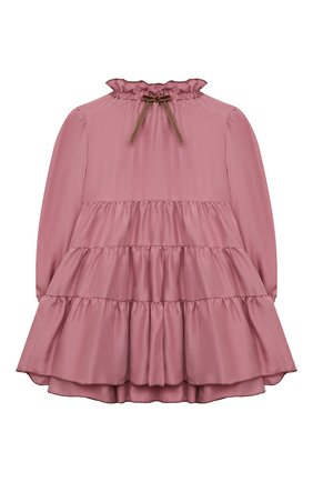 Детское платье IL GUFO темно-розового цвета, арт. A21VL442R0001/2A-4A | Фото 1