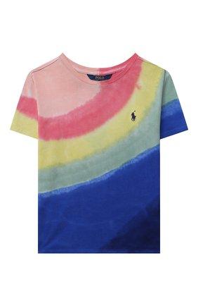 Детская хлопковая футболка POLO RALPH LAUREN разноцветного цвета, арт. 313841394 | Фото 1