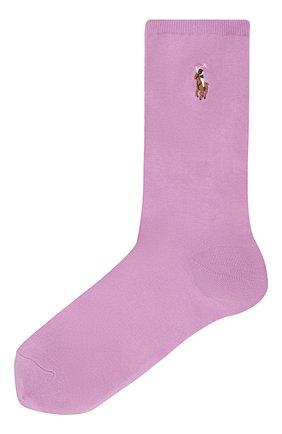 Женские носки POLO RALPH LAUREN сиреневого цвета, арт. 455843974 | Фото 1