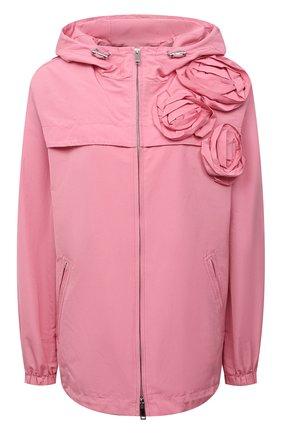 Женская ветровка VALENTINO розового цвета, арт. WB3CJ2454H2   Фото 1 (Материал внешний: Синтетический материал, Хлопок; Материал подклада: Синтетический материал; Стили: Романтичный; Кросс-КТ: Ветровка, Куртка; Рукава: Длинные; Длина (верхняя одежда): До середины бедра)