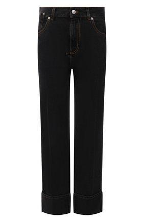 Женские джинсы ALEXANDER MCQUEEN темно-серого цвета, арт. 667390/QMABF   Фото 1 (Длина (брюки, джинсы): Стандартные; Материал внешний: Хлопок; Силуэт Ж (брюки и джинсы): Прямые; Стили: Кэжуэл; Кросс-КТ: Деним)