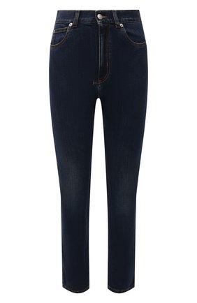 Женские джинсы ALEXANDER MCQUEEN темно-синего цвета, арт. 658059/QMABH | Фото 1