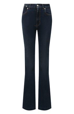 Женские джинсы ALEXANDER MCQUEEN темно-синего цвета, арт. 628062/QMABH | Фото 1