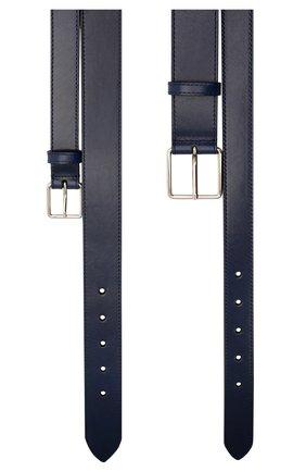 Женский двойной кожаный ремень ALEXANDER MCQUEEN темно-синего цвета, арт. 594188/1BR0Y | Фото 2