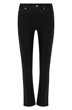 Женские кожаные брюки ALEXANDER MCQUEEN черного цвета, арт. 668455/Q5AGR | Фото 1