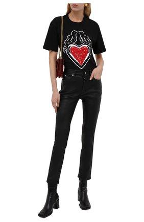 Женские кожаные брюки ALEXANDER MCQUEEN черного цвета, арт. 668455/Q5AGR | Фото 2