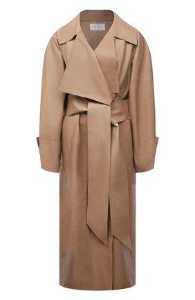 Женское кожаное пальто THE ROW бежевого цвета, арт. 5601L211 | Фото 1