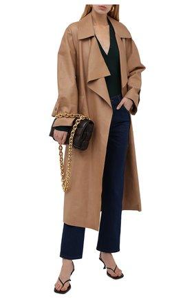 Женское кожаное пальто THE ROW бежевого цвета, арт. 5601L211 | Фото 2