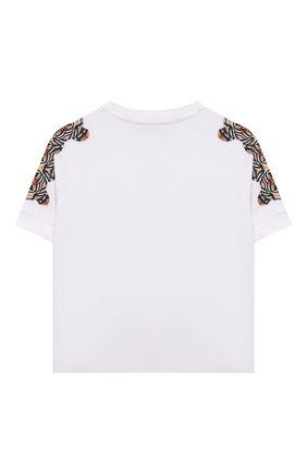 Детская хлопковая футболка BURBERRY белого цвета, арт. 8041212 | Фото 2