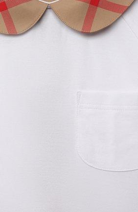 Детское хлопковое платье BURBERRY бежевого цвета, арт. 8041048 | Фото 3 (Рукава: Короткие; Случай: Повседневный; Материал внешний: Хлопок; Девочки Кросс-КТ: Платье-одежда; Ростовка одежда: 10 - 11 лет | 140 - 146см, 12 лет | 152 см, 16 лет | 164 см, 3 года | 98 см, 4 года | 104 см, 6 лет | 116 см, 8 лет | 128 см)