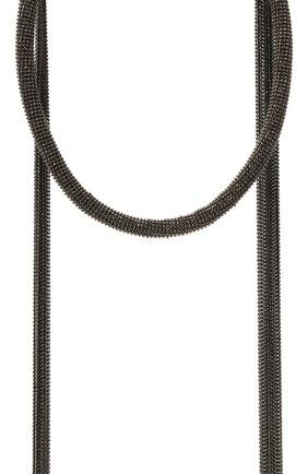 Женское колье BRUNELLO CUCINELLI темно-серого цвета, арт. MC0W9G200   Фото 2