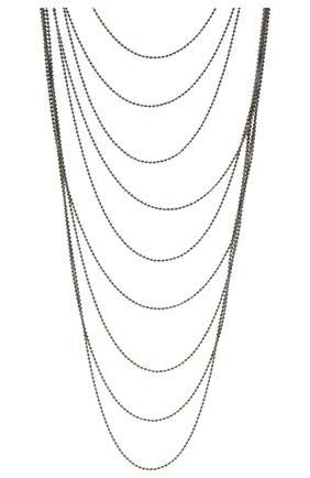 Женское колье BRUNELLO CUCINELLI темно-серого цвета, арт. MC0W9G201   Фото 2