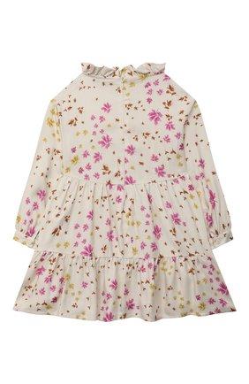 Детское платье из вискозы IL GUFO бежевого цвета, арт. A21VL449R4001/2A-4A | Фото 2