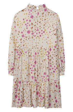 Детское платье из вискозы IL GUFO бежевого цвета, арт. A21VL449R4001/10A-12A | Фото 2
