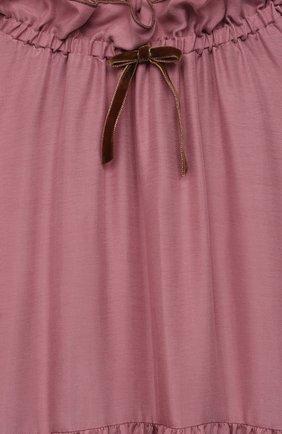 Детское платье IL GUFO розового цвета, арт. A21VL442R0001/10A-12A | Фото 3 (Материал внешний: Купро; Рукава: Длинные; Случай: Повседневный; Девочки Кросс-КТ: Платье-одежда; Ростовка одежда: 12 лет | 152 см, 10 - 11 лет | 140 - 146см)