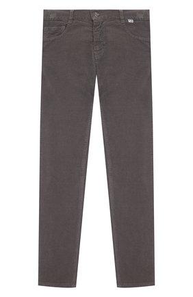 Детские хлопковые брюки IL GUFO серого цвета, арт. A21PL093V6005/10A-12A   Фото 1