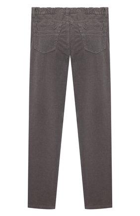 Детские хлопковые брюки IL GUFO серого цвета, арт. A21PL093V6005/10A-12A   Фото 2