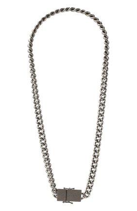 Женское колье VETEMENTS серебряного цвета, арт. UA52NE500S   Фото 1
