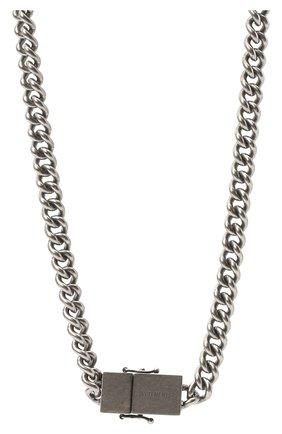 Женское колье VETEMENTS серебряного цвета, арт. UA52NE500S   Фото 2