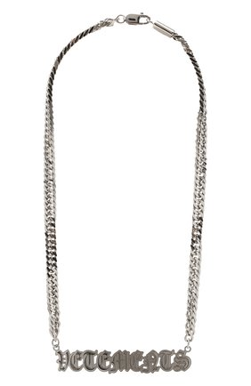 Женское колье VETEMENTS серебряного цвета, арт. UA52NE200S   Фото 1