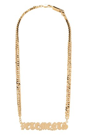 Женское колье VETEMENTS золотого цвета, арт. UA52NE200G   Фото 1