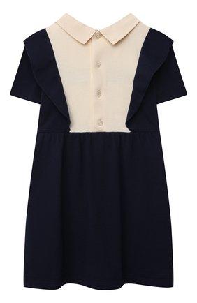 Женский хлопковое платье GUCCI синего цвета, арт. 660706/XJDM4   Фото 2