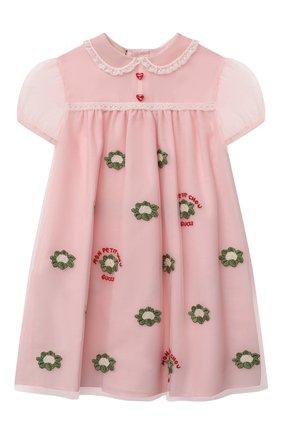 Женский платье GUCCI светло-розового цвета, арт. 662568/ZAHBF | Фото 1
