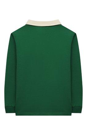 Детский хлопковый пуловер GUCCI зеленого цвета, арт. 660749/XJDJ4 | Фото 2
