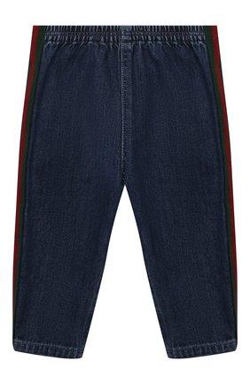 Детские джинсы GUCCI синего цвета, арт. 660204/XDB0Y | Фото 1