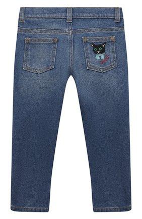 Детские джинсы GUCCI темно-синего цвета, арт. 657868/XDBP0 | Фото 2