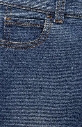 Детские джинсы GUCCI темно-синего цвета, арт. 657868/XDBP0 | Фото 3 (Материал внешний: Хлопок; Ростовка одежда: 12 мес | 80 см, 18 мес | 86 см, 24 мес | 92 см, 36 мес | 98 см)