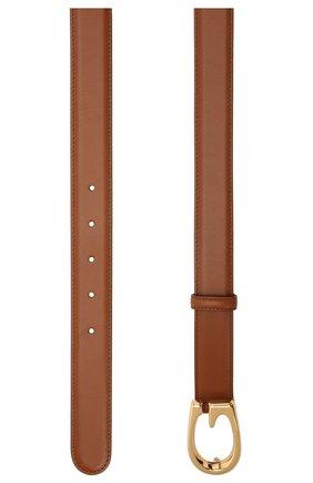 Женский кожаный ремень GUCCI коричневого цвета, арт. 655566/BGH0G   Фото 2