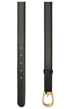 Женский кожаный ремень GUCCI черного цвета, арт. 655566/BGH0G   Фото 2