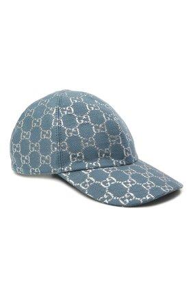 Женская бейсболка GUCCI голубого цвета, арт. 631953/3HK75   Фото 1