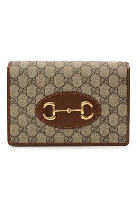 Женские кошелек GUCCI коричневого цвета, арт. 658548/HUHQG | Фото 1 (Материал: Текстиль, Синтетический материал; Кросс-КТ: другое)